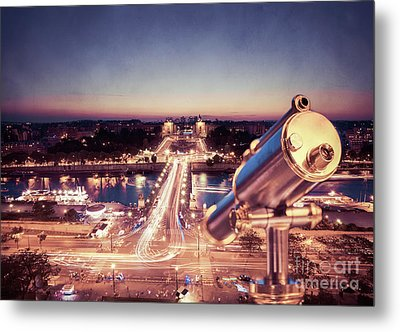 Take A Look At Paris Metal Print by Hannes Cmarits
