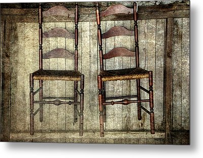 Take A Seat Metal Print by Stephanie Calhoun