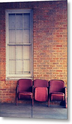 Metal Print featuring the photograph Take A Seat by Trish Mistric
