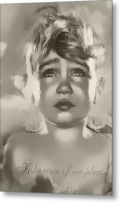 Metal Print featuring the digital art Take Care Of Me Please by Kathy Tarochione