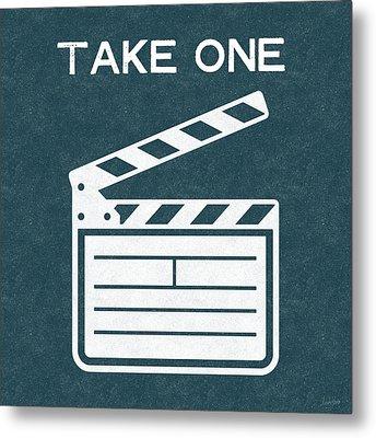Take One- Art By Linda Woods Metal Print by Linda Woods