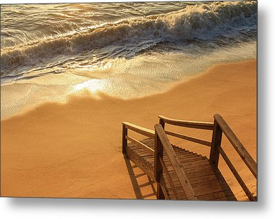 Take The Stairs To The Waves Metal Print by Joni Eskridge