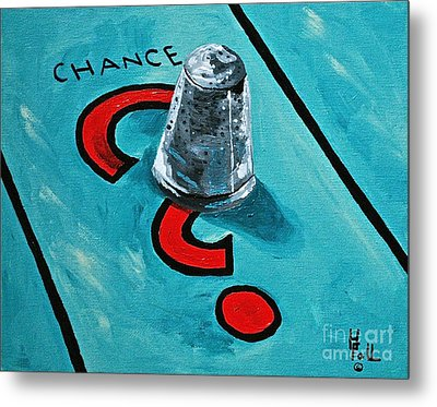 Taking A Chance Metal Print by Herschel Fall