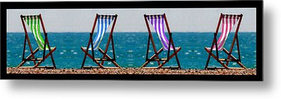 Taking A Dip Metal Print