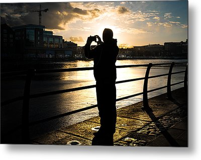 Taking Pictures - Dublin, Ireland - Color Street Photography Metal Print by Giuseppe Milo