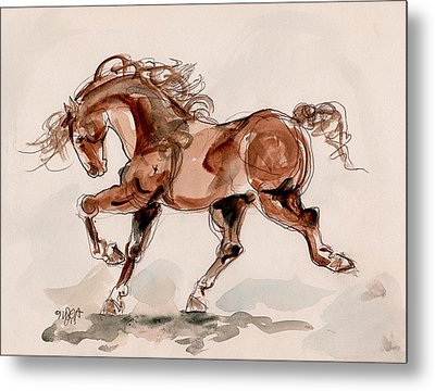 Taking Stride Metal Print by Mary Armstrong
