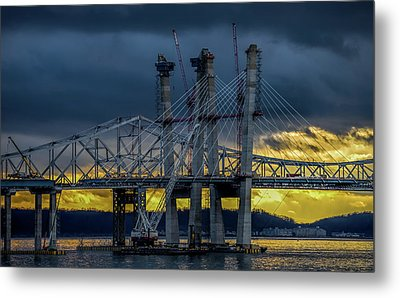 Tale Of 2 Bridges At Sunset Metal Print