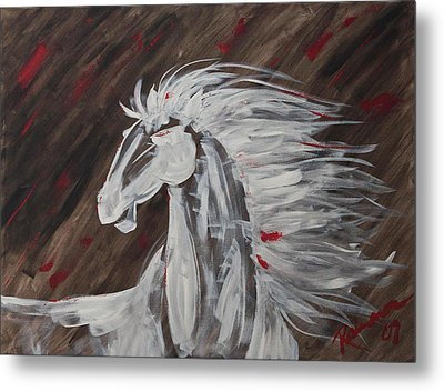 Tale Of The Wind Horse Metal Print by Stephane Trahan