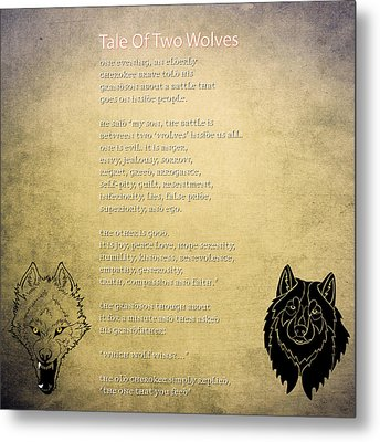 Tale Of Two Wolves - Art Of Stories Metal Print