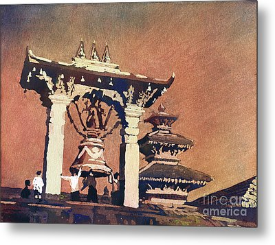 Metal Print featuring the painting Taleju Bell- Patan, Nepal by Ryan Fox