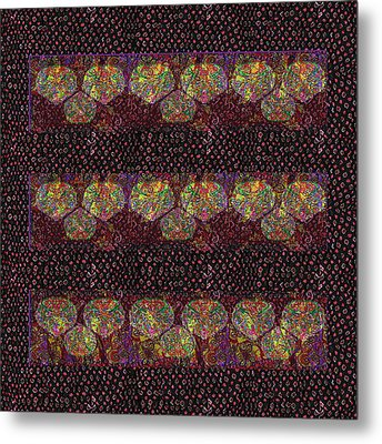 Talking Point Art Fusion Graphic Art  Jaipur Fabric Beads Dots Texture Print And  Digital Art Graphi Metal Print