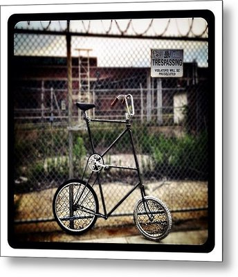 Tall Bike Metal Print by Natasha Marco