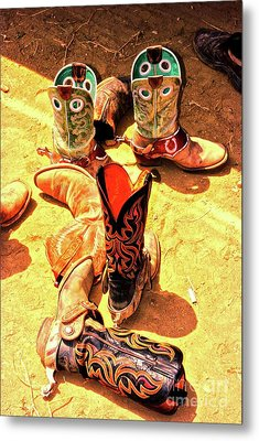 Tall Boots Metal Print by Gus McCrea