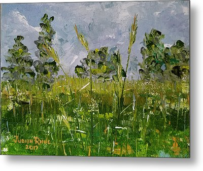 Metal Print featuring the painting Tall Grass by Judith Rhue