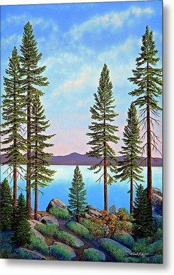 Tall Pines Of Lake Tahoe Metal Print by Frank Wilson