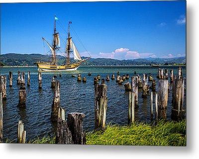 Tall Ship Lady Washington Metal Print