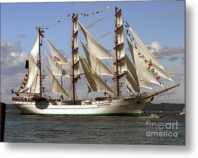 Tall Ship Metal Print by Robert  Torkomian