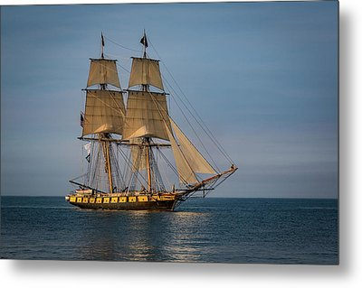 Tall Ship U.s. Brig Niagara Metal Print