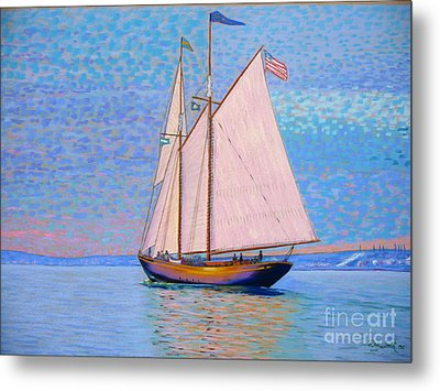 Tall Ship Virginia Entering Halifax Harbour Metal Print by Rae  Smith PSC