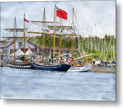 Metal Print featuring the painting Tall Ships Festival by Melly Terpening