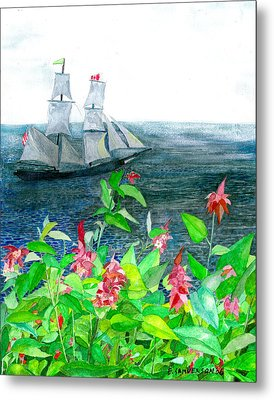 Tall Ships In Victoria Bc Metal Print by Eric Samuelson