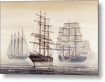 Tall Ships Metal Print by James Williamson