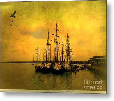 Tall Ships Of Dana Point Metal Print by Kevin Moore