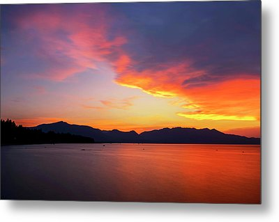 Metal Print featuring the photograph Tallac On Fire by Brad Scott