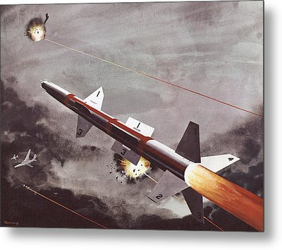 Talos Surface To Air Missile Metal Print by American School