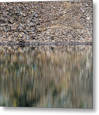 Metal Print featuring the photograph Talus Reflection by Alexander Kunz