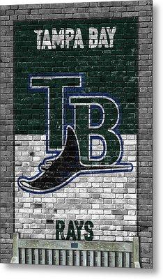Tampa Bay Rays Brick Wall Metal Print by Joe Hamilton