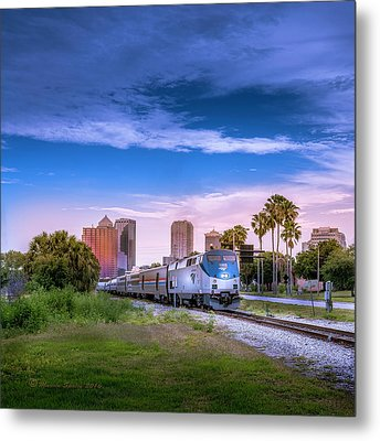 Metal Print featuring the photograph Tampa Departure by Marvin Spates
