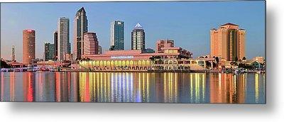 Tampa Panoramic View Metal Print
