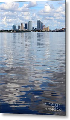 Tampa Skyline Over The Bay Metal Print by Carol Groenen