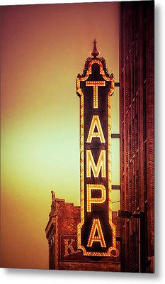 Metal Print featuring the photograph Tampa Theatre by Carolyn Marshall