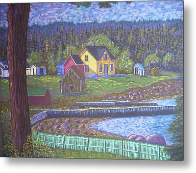 Tancook Houses Metal Print by Rae  Smith