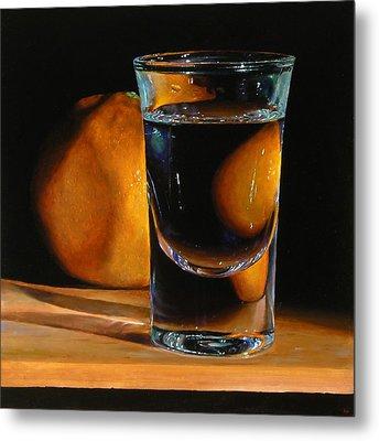 Tangerine And Shotglass Metal Print by Jeffrey Hayes