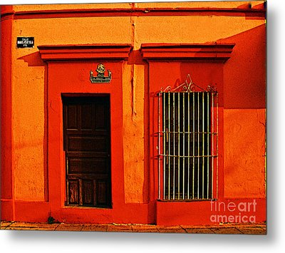 Tangerine Casa By Michael Fitzpatrick Metal Print by Mexicolors Art Photography