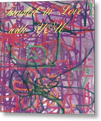 Tangled In Love With You Metal Print by Anne-Elizabeth Whiteway