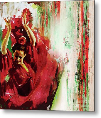 Metal Print featuring the painting Tango Dance 45g by Gull G