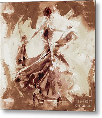 Metal Print featuring the painting Tango Dance 9910j by Gull G