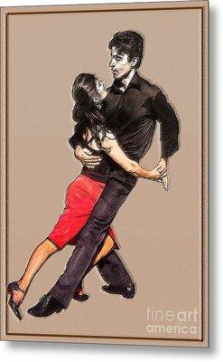 Tango Metal Print by Linda  Parker