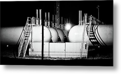 Metal Print featuring the photograph Tank Shadows by Bill Kesler