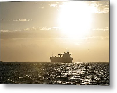 Tanker In Sun Metal Print