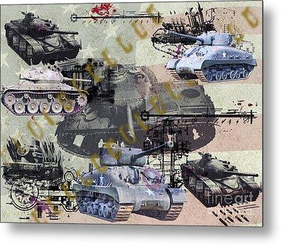 Metal Print featuring the photograph Tanks by Ken Frischkorn