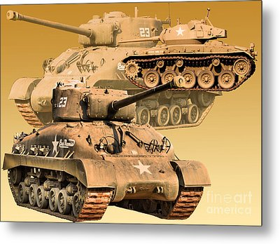 Metal Print featuring the photograph Tanks Two by Ken Frischkorn