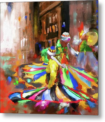 Tanoura Dance 449 I Metal Print by Mawra Tahreem