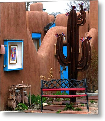 Metal Print featuring the photograph Taos Cactus by Kathleen Stephens