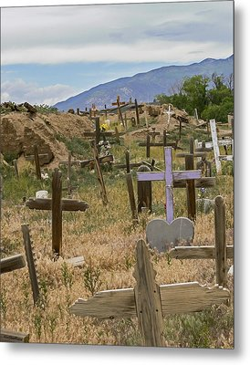 Taos Pueblo Cemetery Metal Print