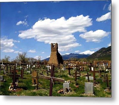 Taos Pueblo Cemetery Metal Print by Kurt Van Wagner